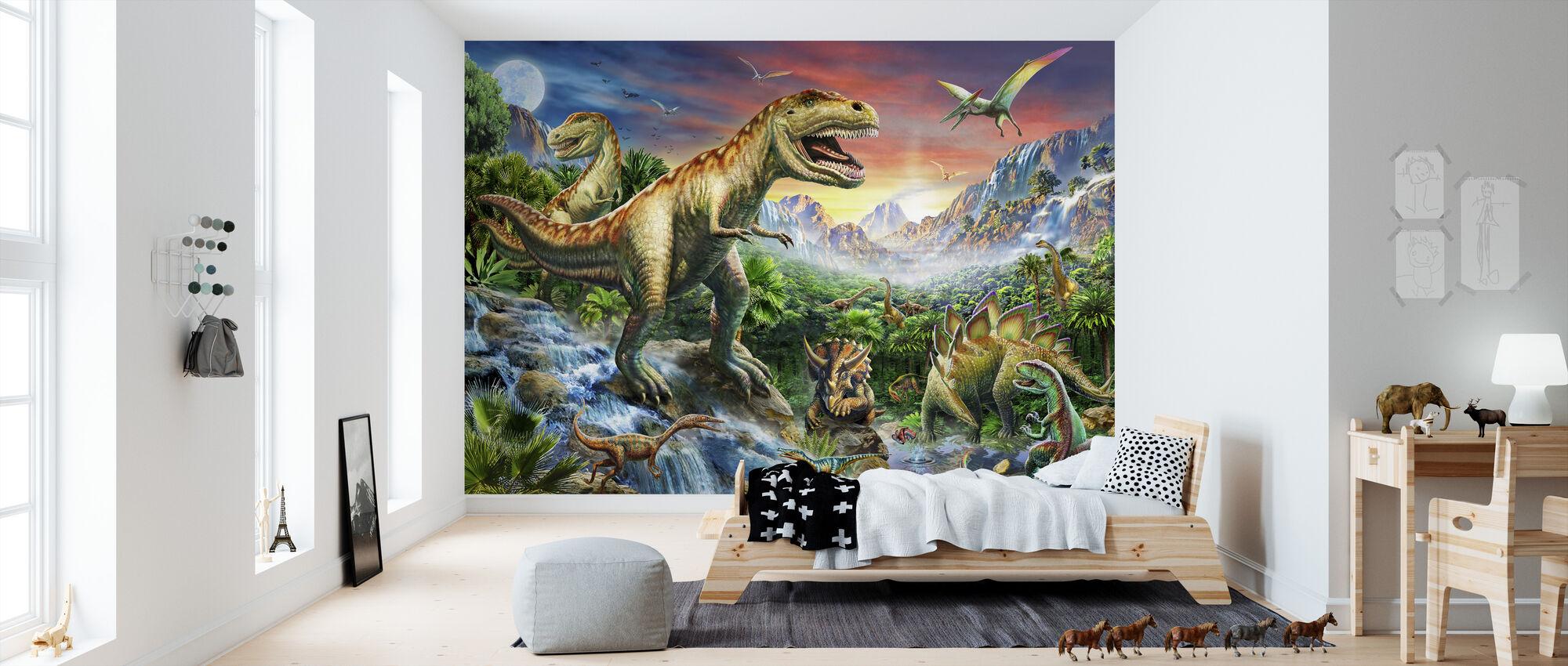 Jurassic Landskab - Tapet - Børneværelse