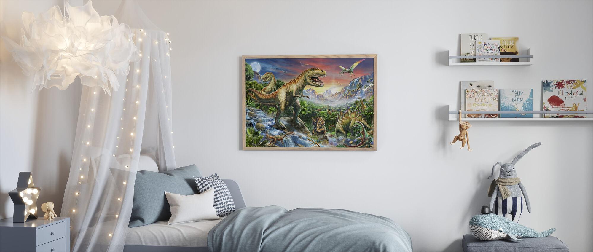 Jurassic Landskap - Innrammet bilde - Barnerom