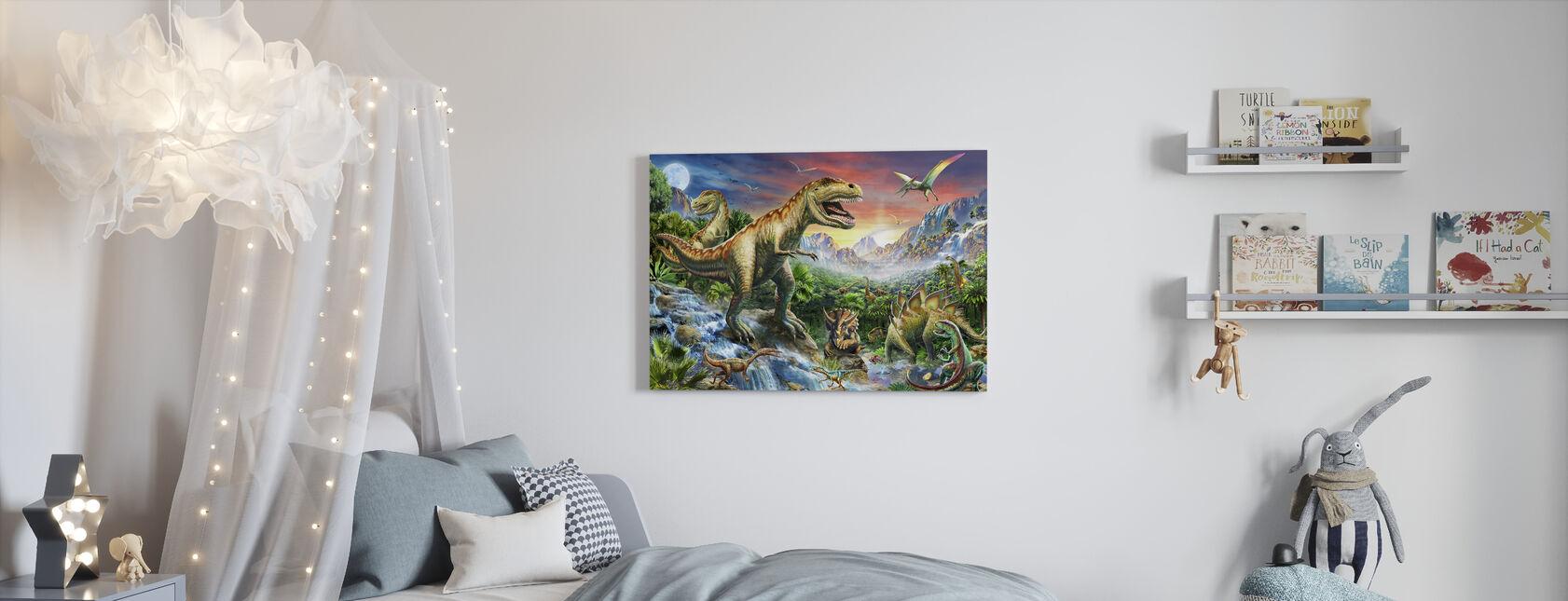 Jurassic Landskap - Lerretsbilde - Barnerom