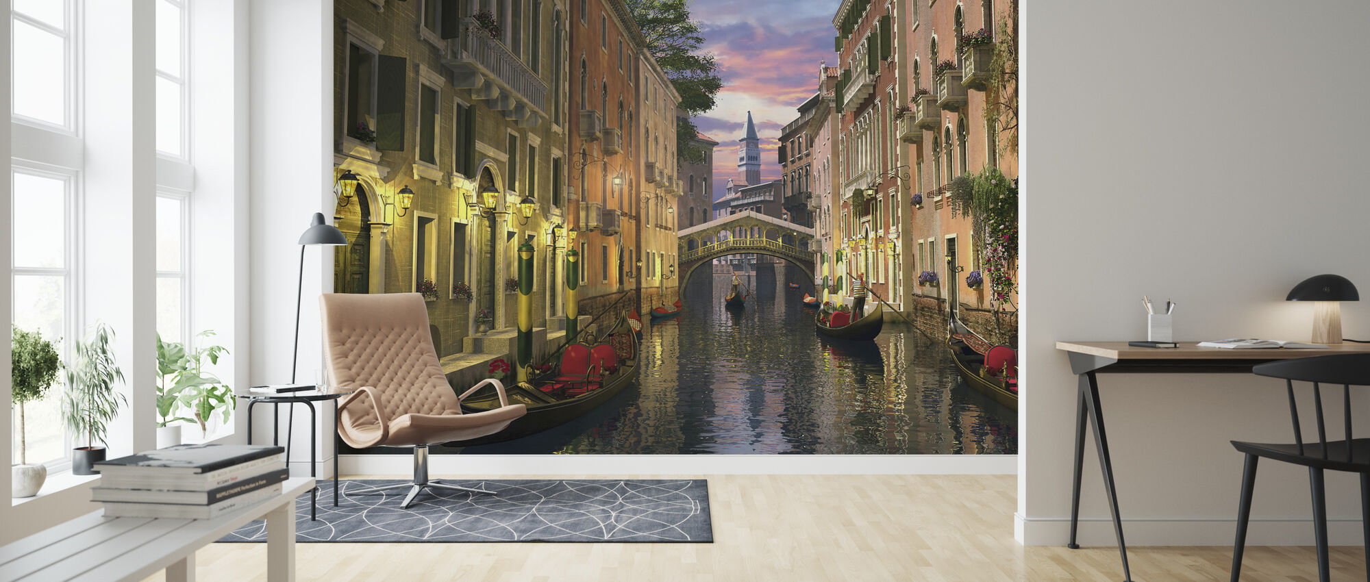 Venice at Dusk - Wallpaper - Living Room
