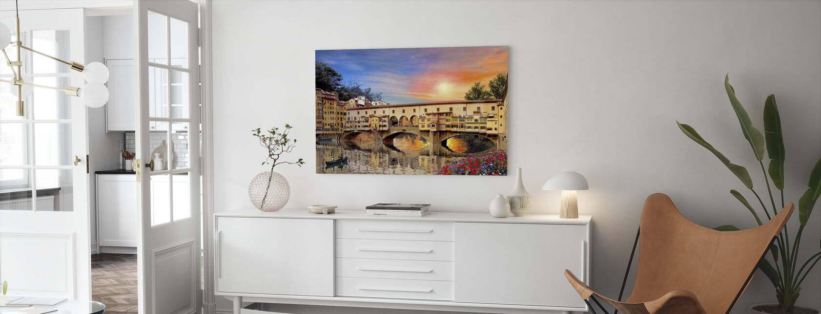 Florence Bridge - Canvas print - Living Room