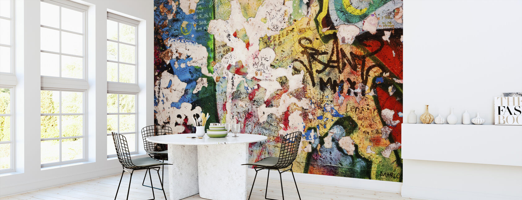 Part of Berlin Wall with Grunge Graffiti - Potsdamer Platz - Wallpaper - Kitchen