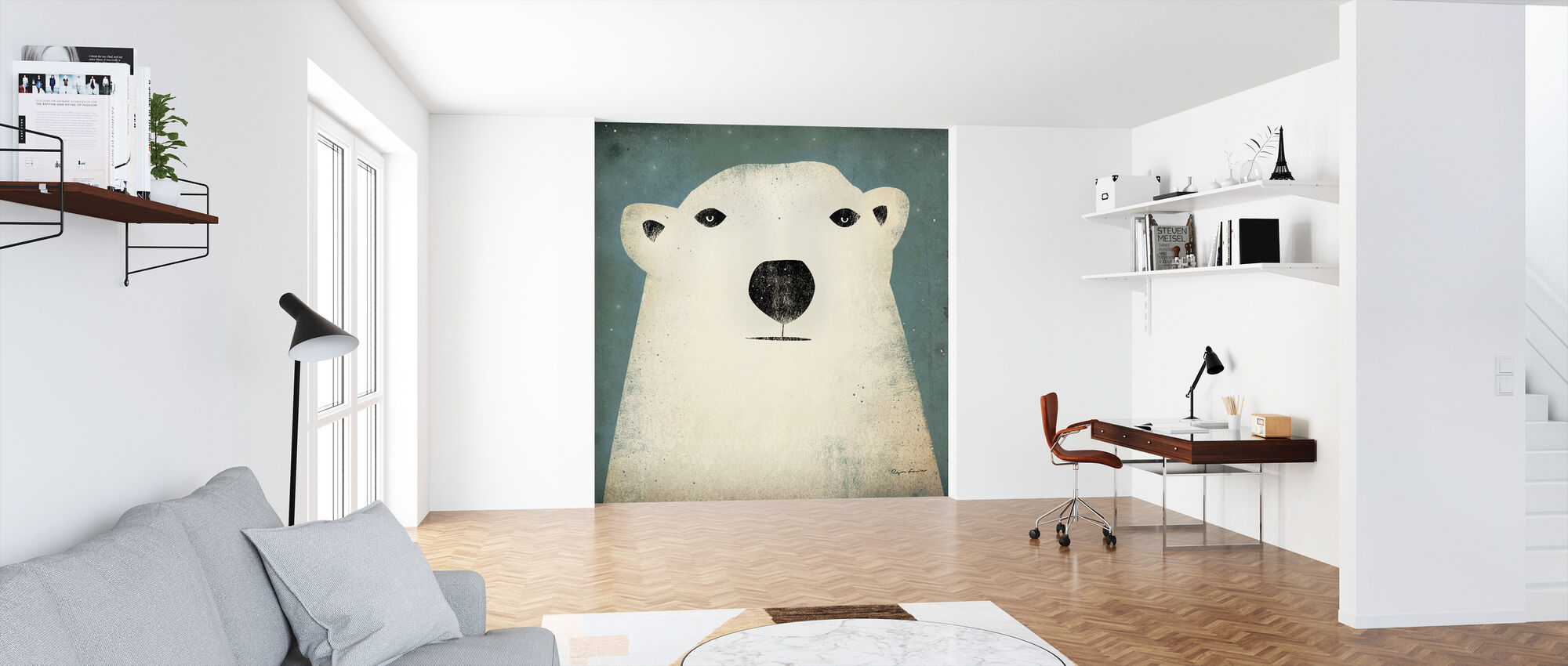 Ryan Fowler - Polar Bear - Wallpaper - Office