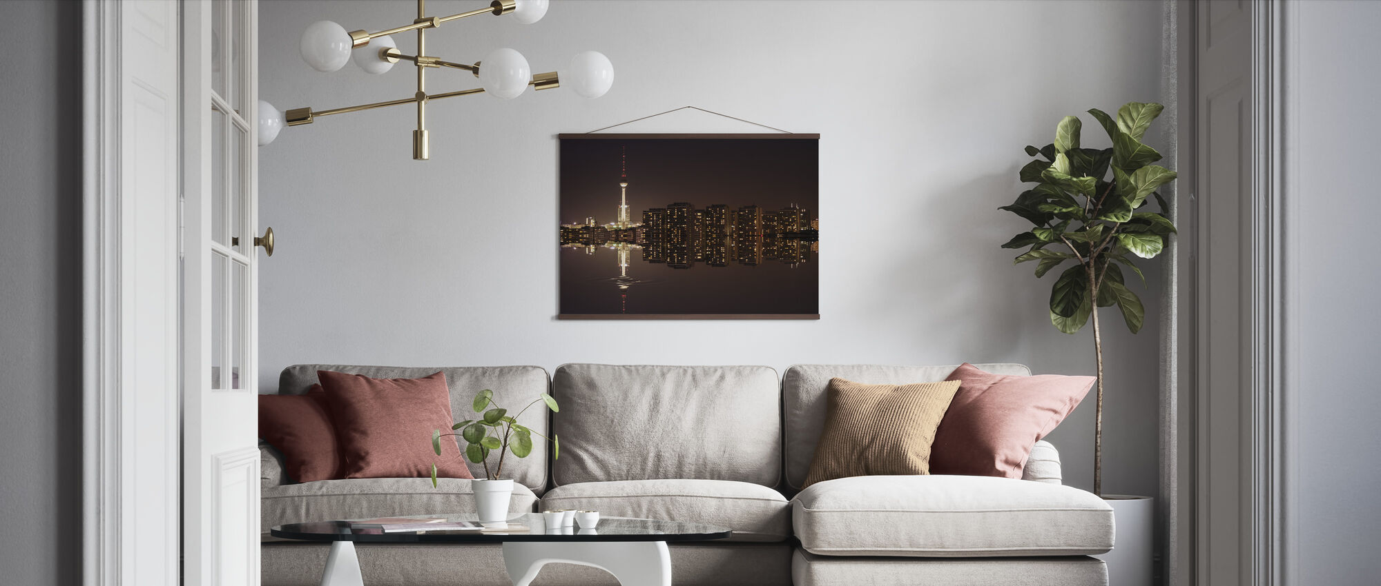 Berlin Panoramic View and Water - Poster - Living Room
