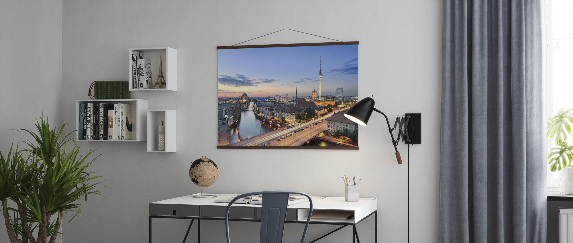 Berlin Skyline Panorama - Poster - Office