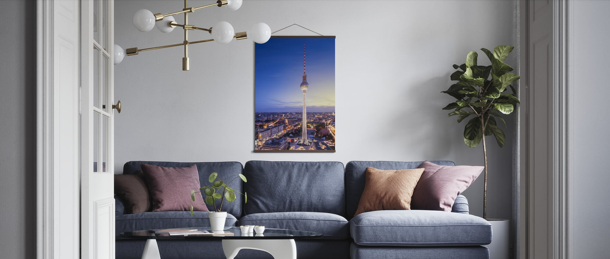 Berlin, Germany. View of TV tower - Poster - Living Room