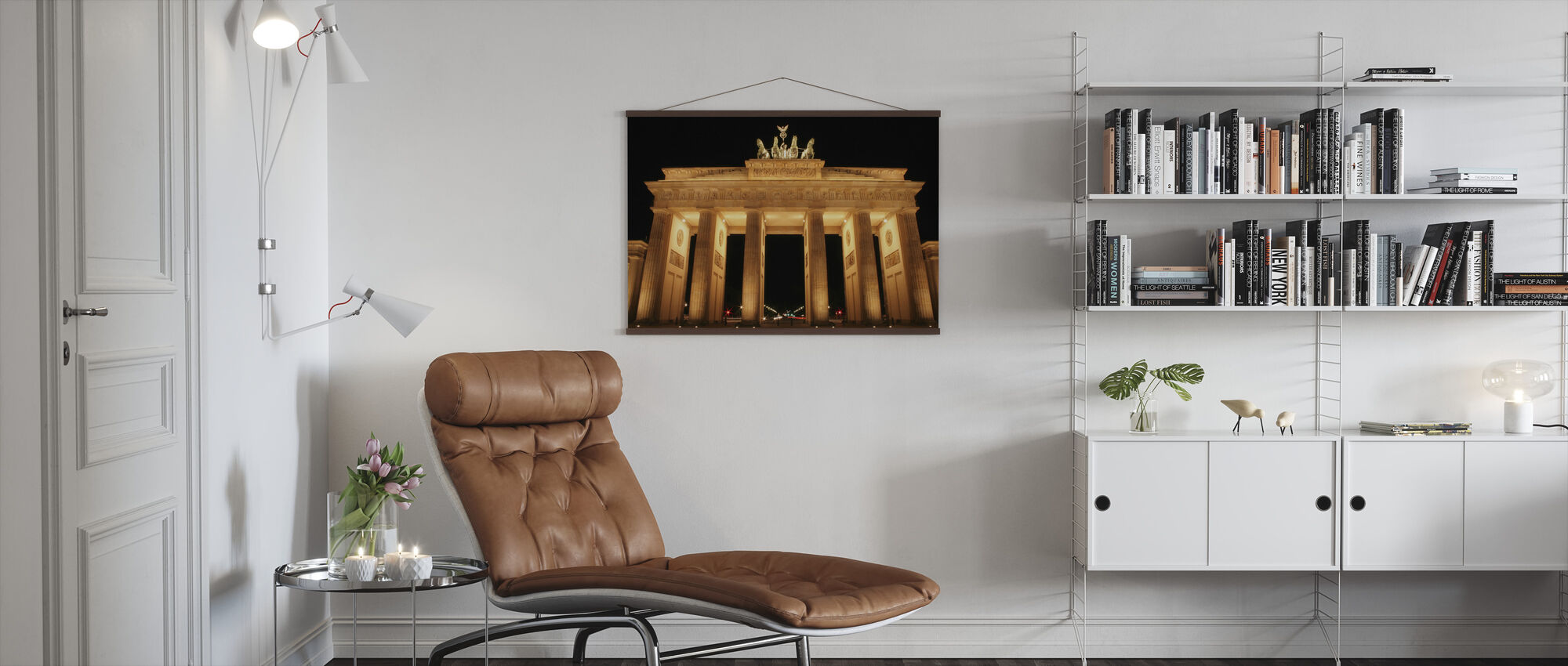 Brandenburg Gate at Night - Poster - Living Room