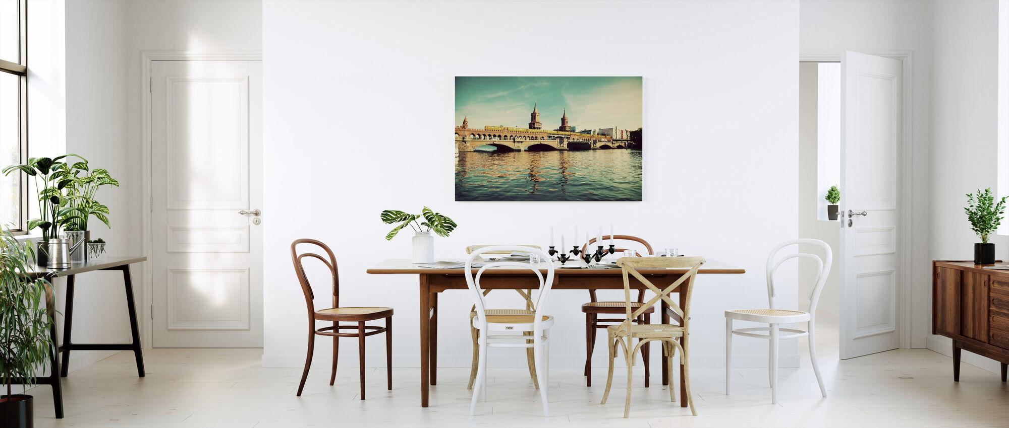 The Oberbaum Bridge and River Spree in Berlin - Canvas print - Kitchen
