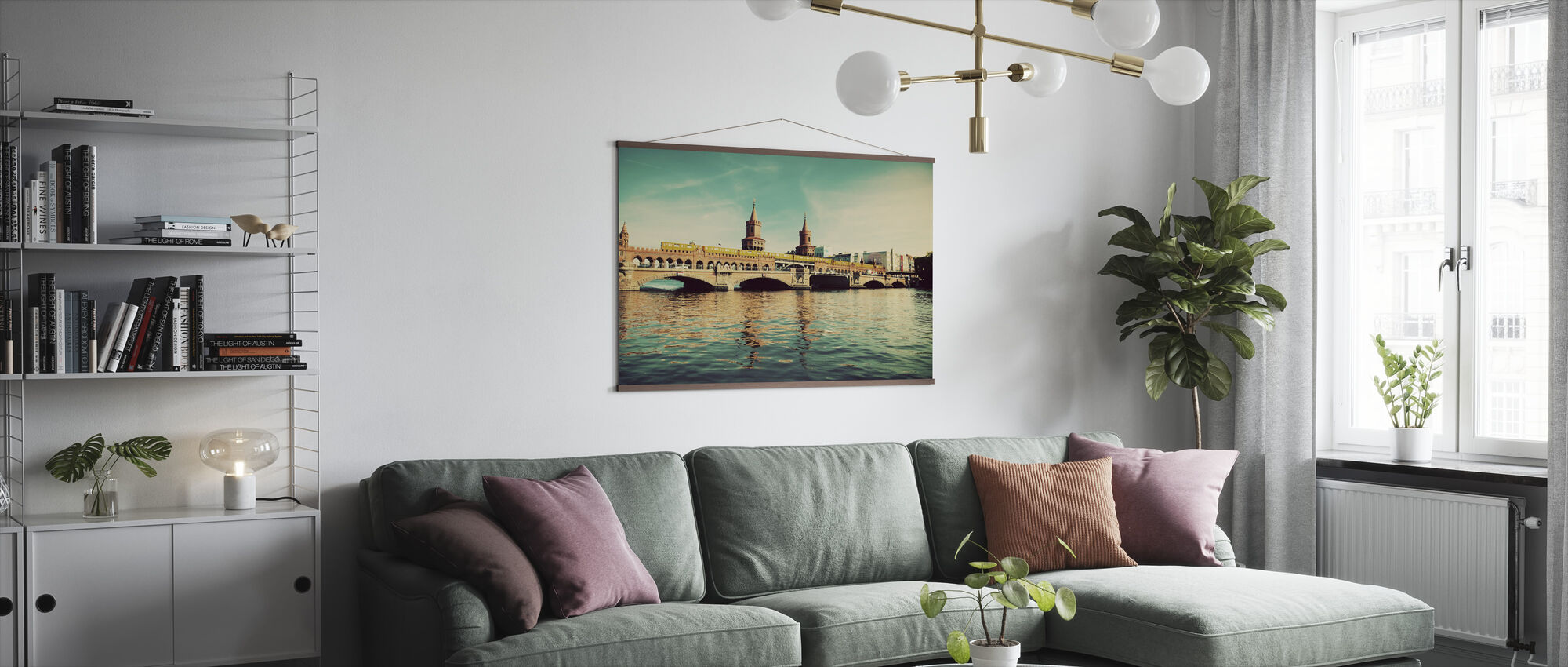 The Oberbaum Bridge and River Spree in Berlin - Poster - Living Room