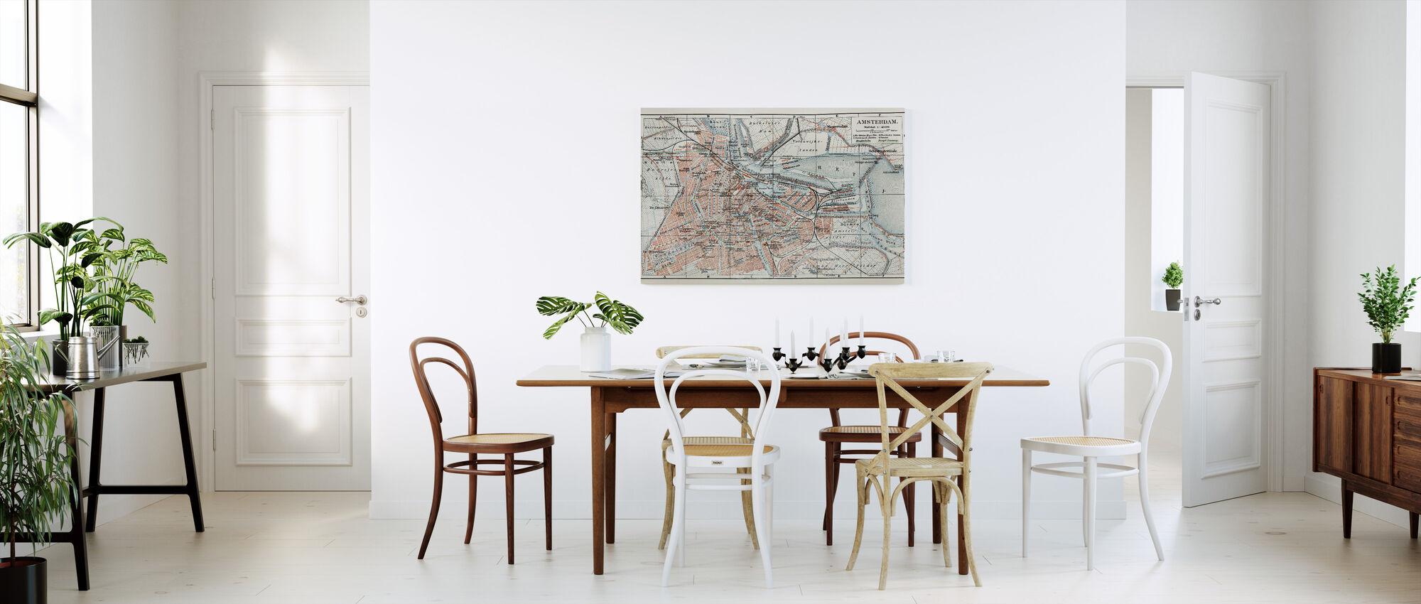 1800-talet Gamle Kart over Amsterdam City - Lerretsbilde - Kjøkken
