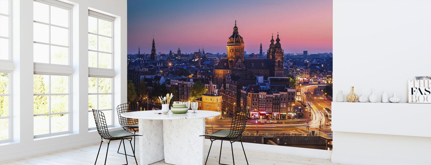 Amsterdam Stad - Behang - Keuken