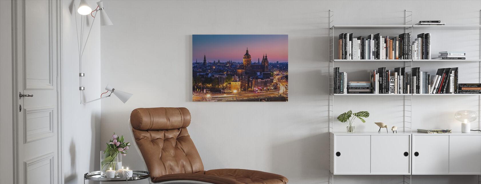 Amsterdam Stad - Canvas print - Woonkamer
