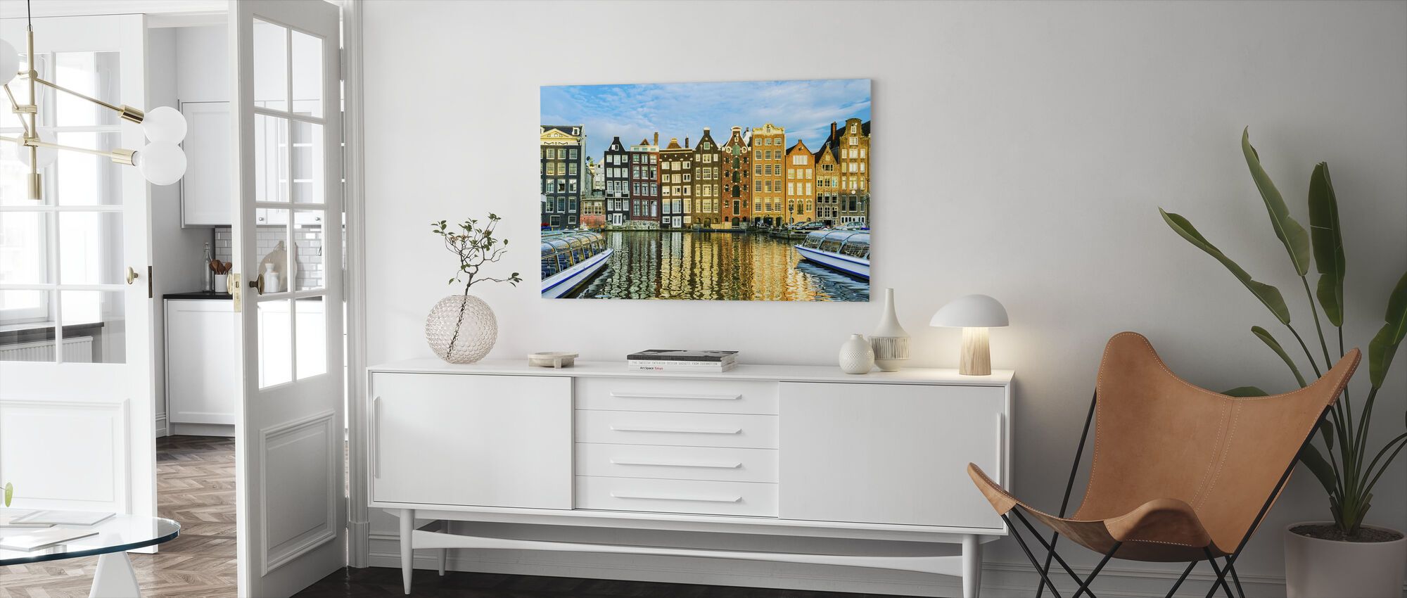 Traditional Houses of Amsterdam, Netherlands - Canvas print - Living Room
