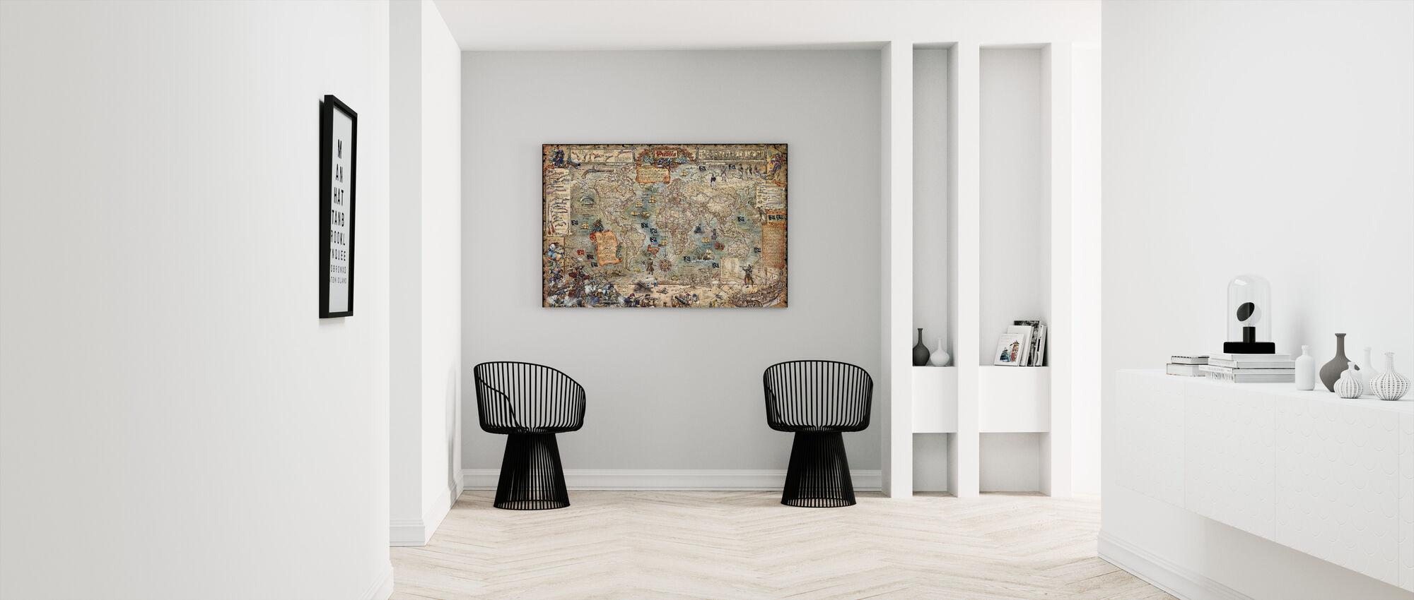Pirate Map - Canvas print - Hallway