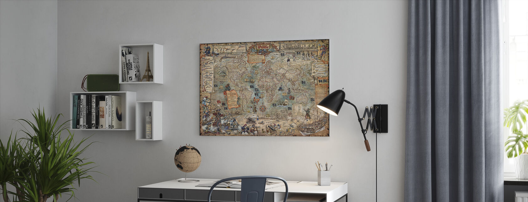 Pirate Map - Canvas print - Office
