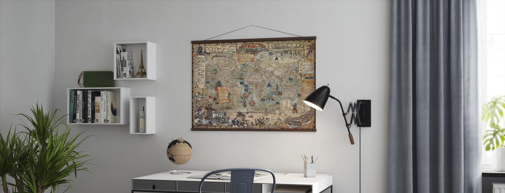 Pirate Map - Poster - Office