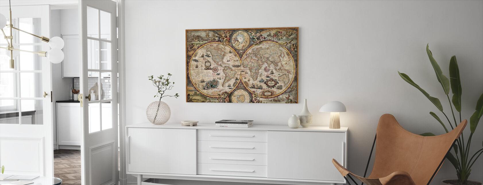Vintage Verden - Lerretsbilde - Stue
