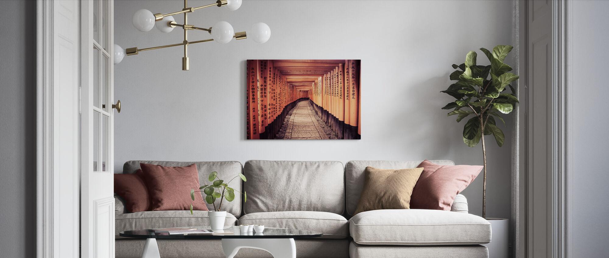 Historische Kyoto-poorten in Japan - Canvas print - Woonkamer