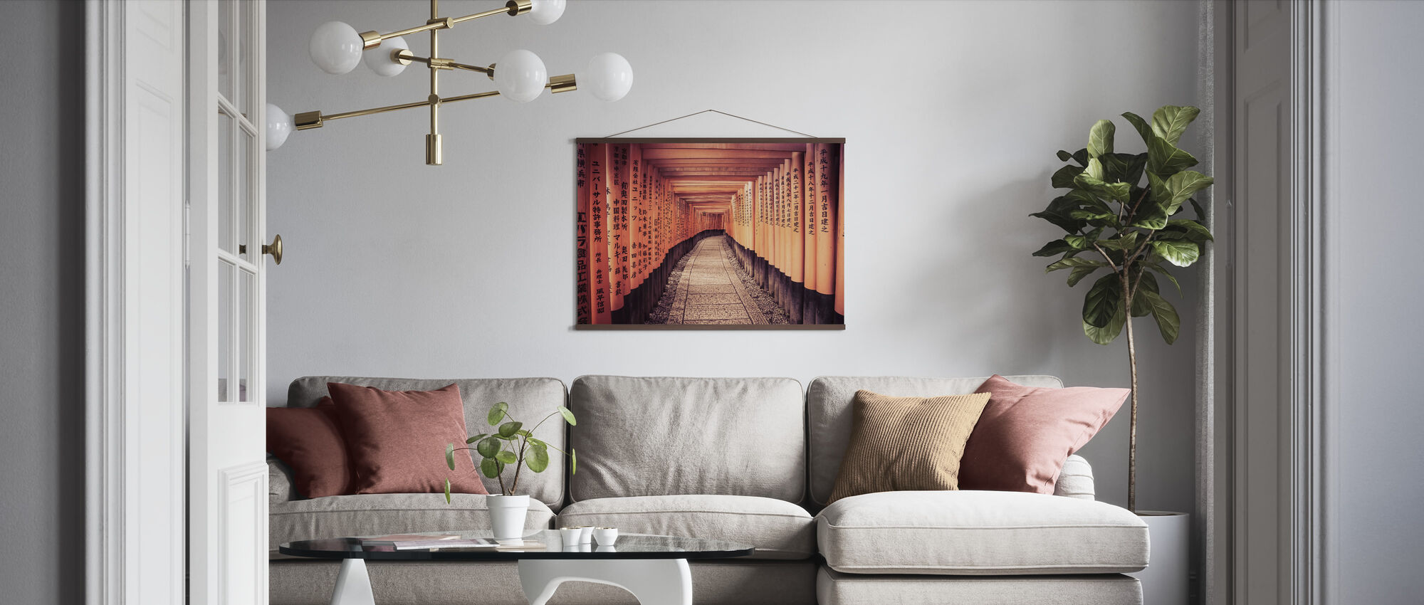 Historical Kyoto Gates in Japan - Poster - Living Room