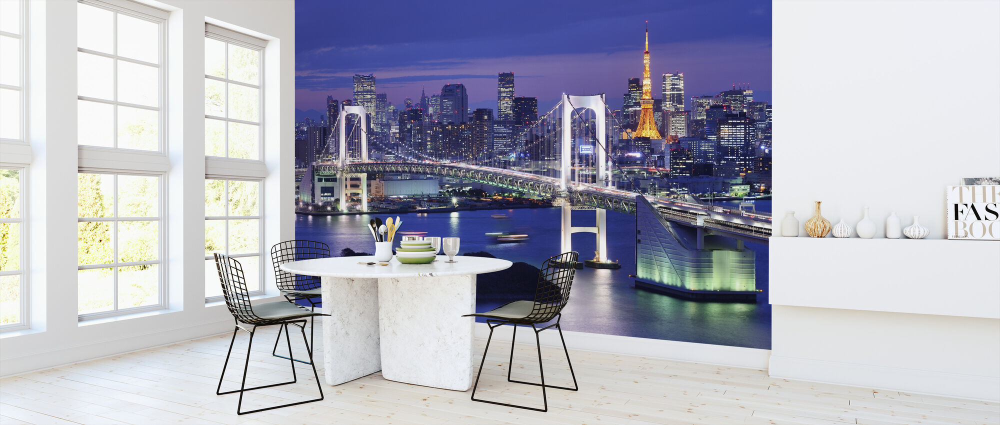 Rainbow Bridge and Tokyo Tower - Wallpaper - Kitchen