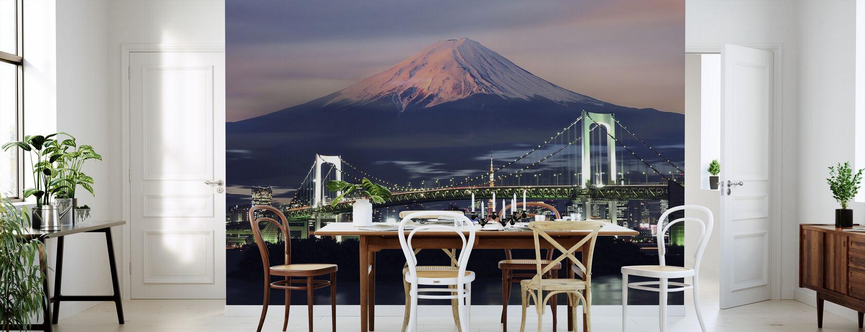 Rainbow Bridge with Mt Fuji - Wallpaper - Kitchen