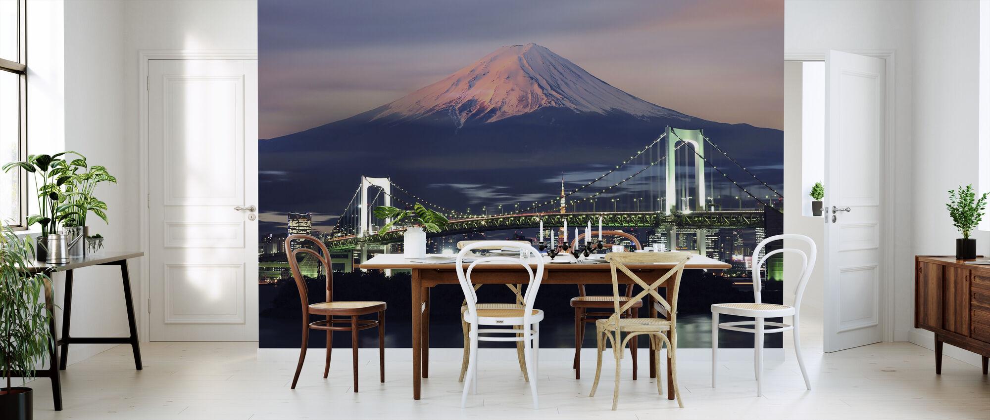 Sateenkaarisilta Fuji-vuorella - Tapetti - Keittiö