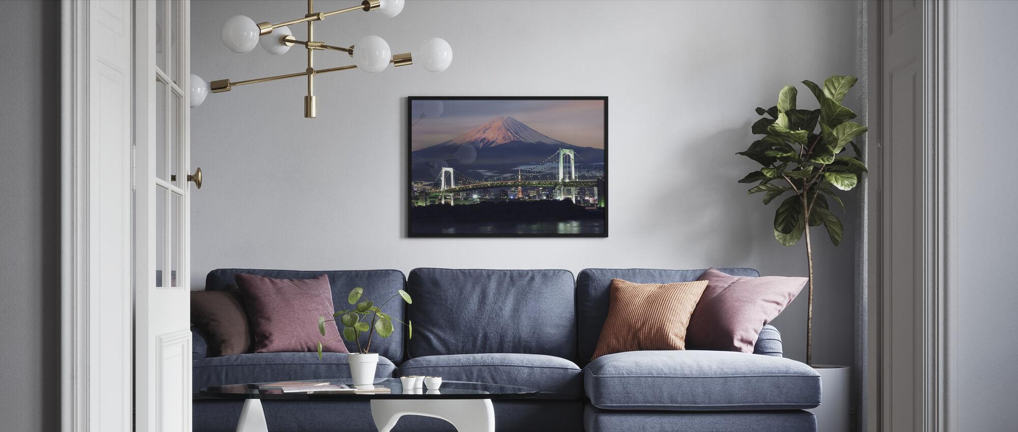 Rainbow Bridge with Mt Fuji - Framed print - Living Room