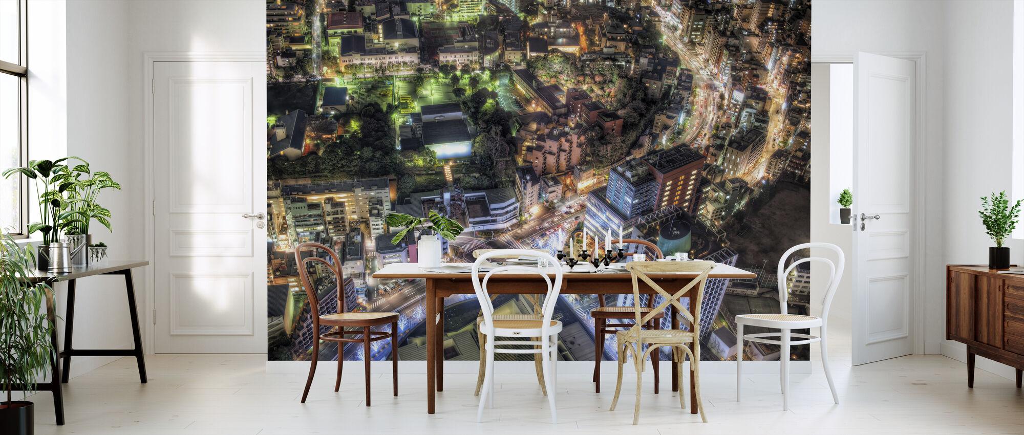 Tokyo nightscape from Roppongi Hills gazebo - Wallpaper - Kitchen