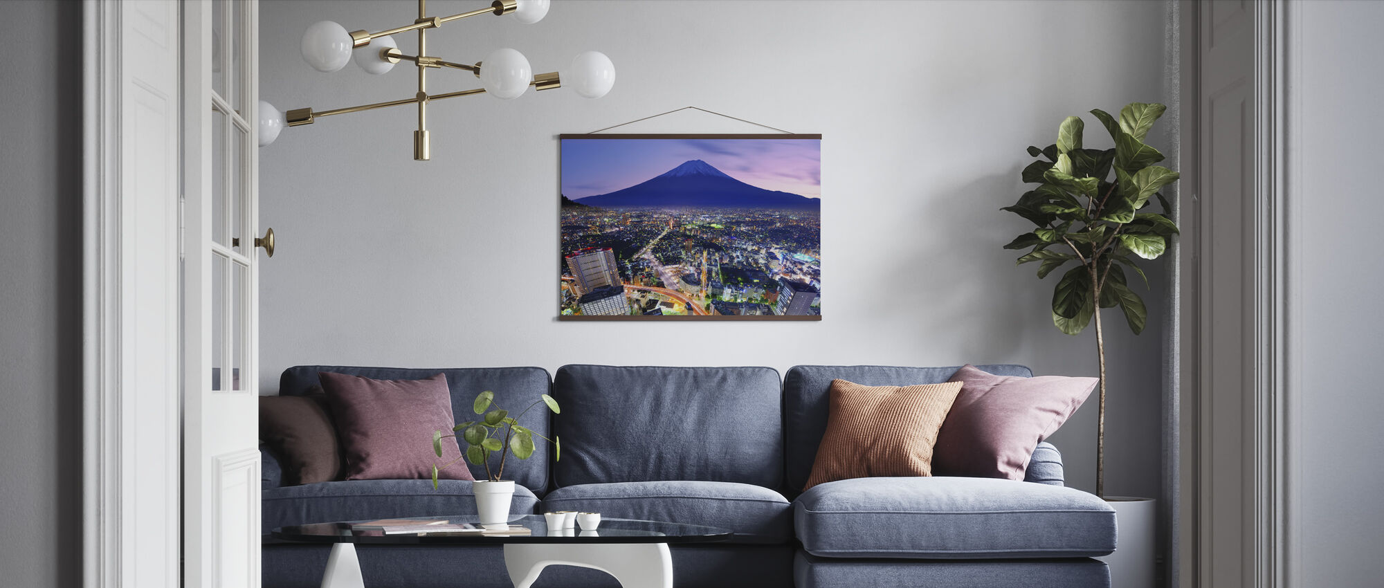 Ueno District and Mt. Fuji in Tokyo, Japan - Poster - Living Room