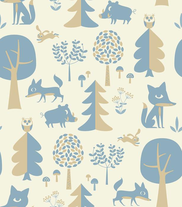 Forest blue papel pintado personalizado y de alta for Papel pintado personalizado