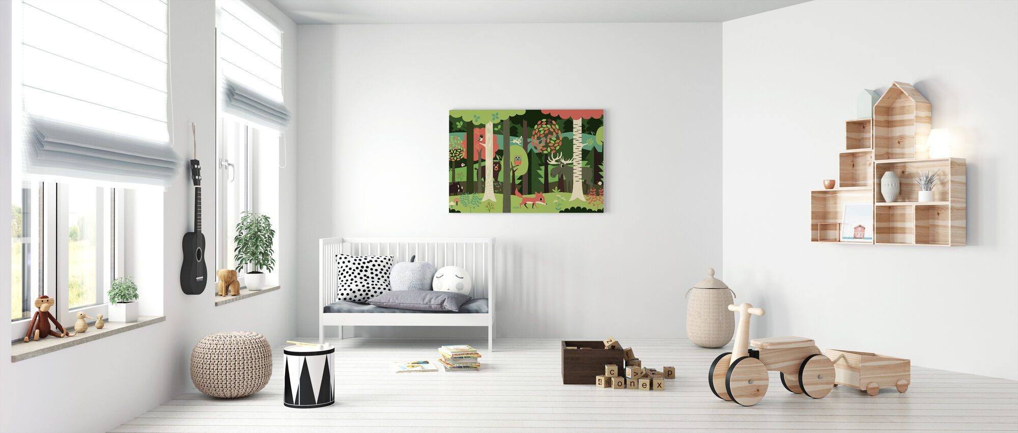 In the Forest - Green - Canvas print - Nursery