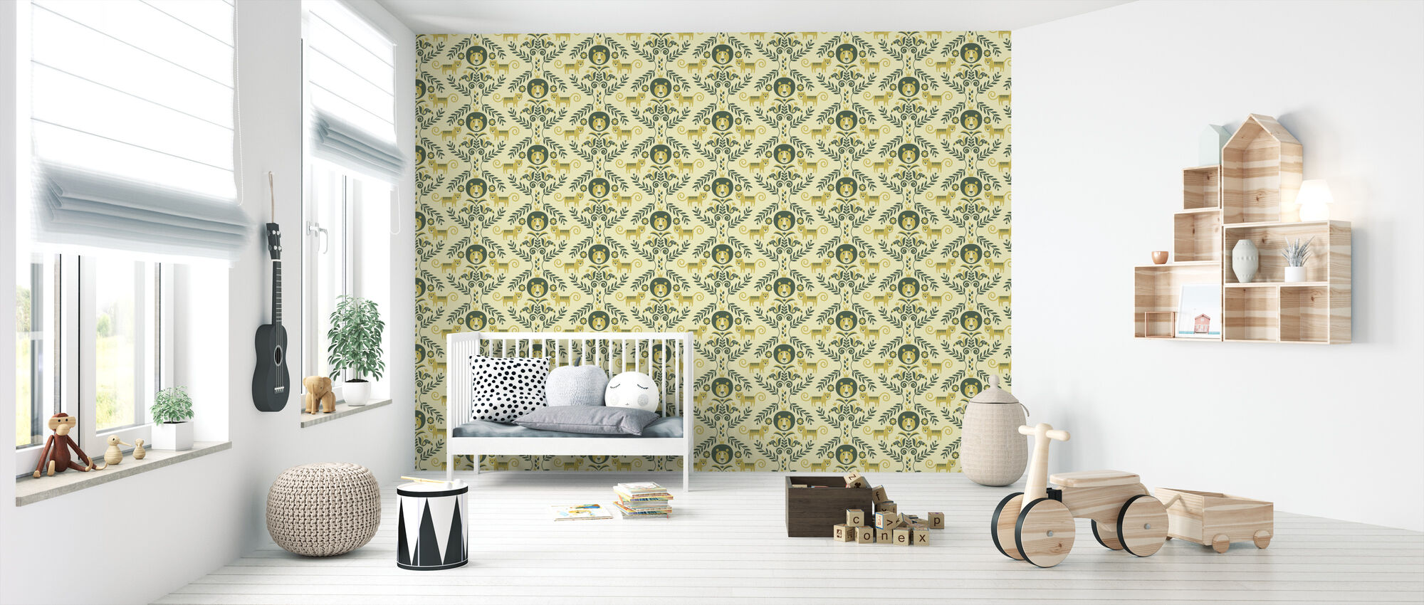 Jungle - Yellow - Wallpaper - Nursery