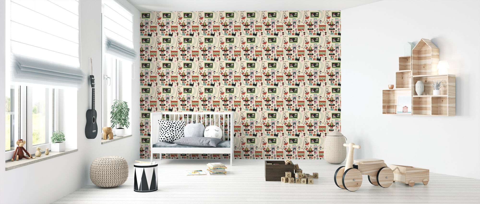 Tivoli - Green - Wallpaper - Nursery