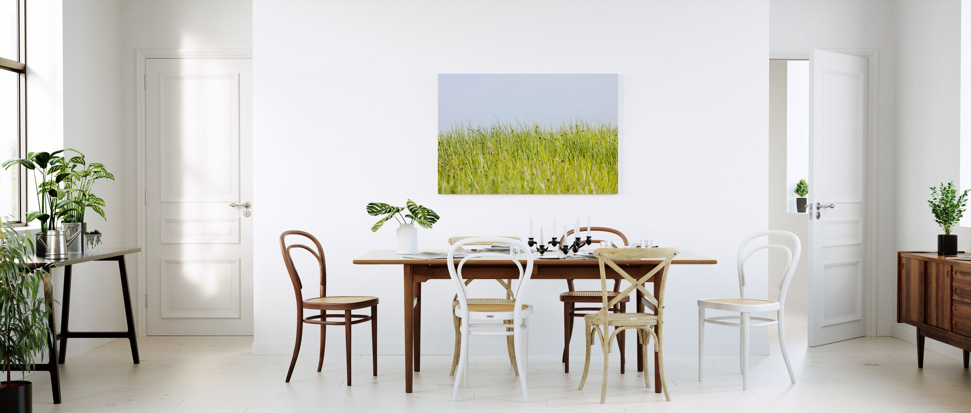 Green Summer Meadow - Canvas print - Kitchen