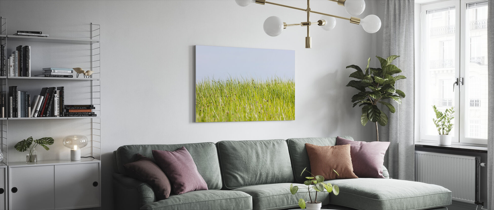 Green Summer Meadow - Canvas print - Living Room