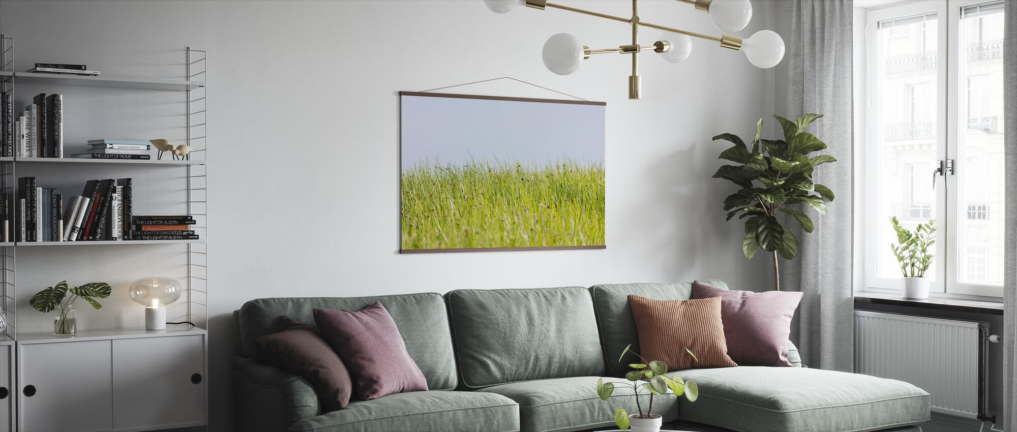 Green Summer Meadow - Poster - Living Room
