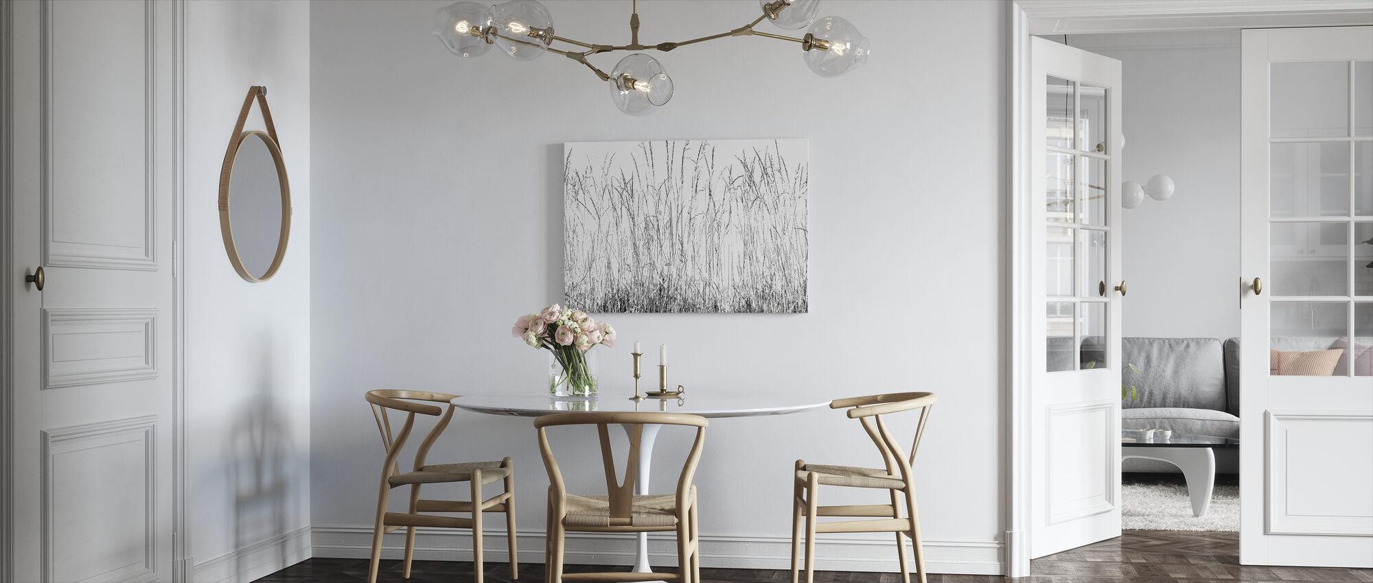 Gras messen bw - Canvas print - Keuken
