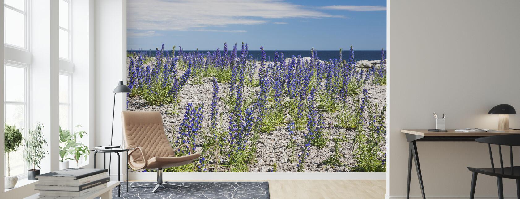 Blueweed - Wallpaper - Living Room