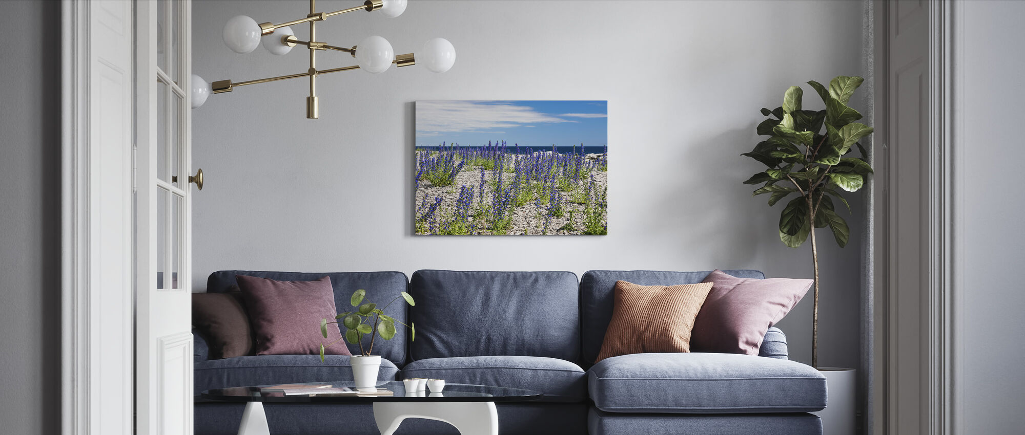 Blueweed - Canvas print - Living Room
