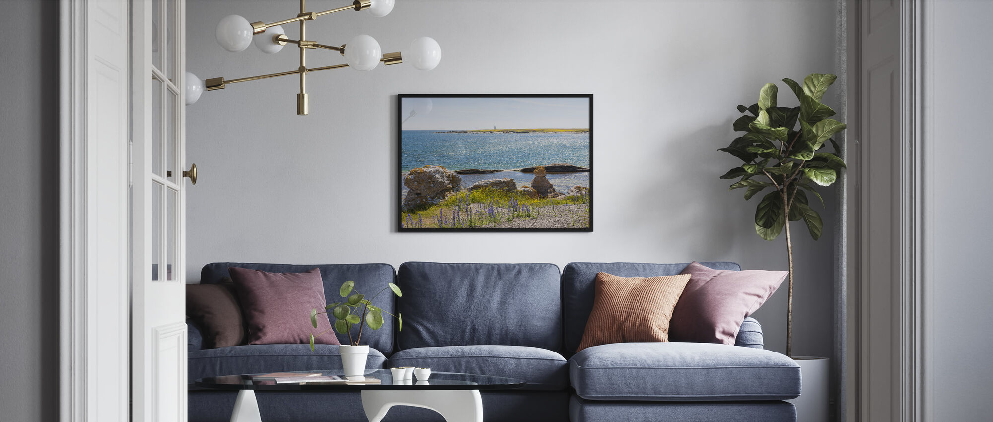 Gotland Seaside - Framed print - Living Room