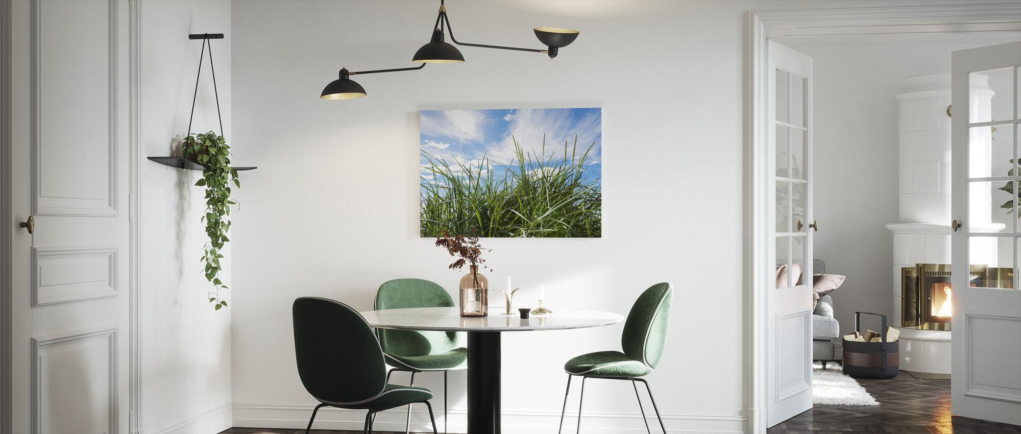 Groen gras & blauwe hemel - Canvas print - Keuken