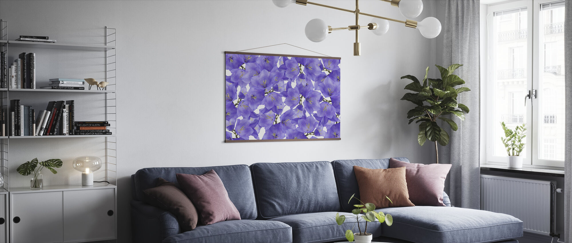Beautiful Bluebells - Poster - Living Room