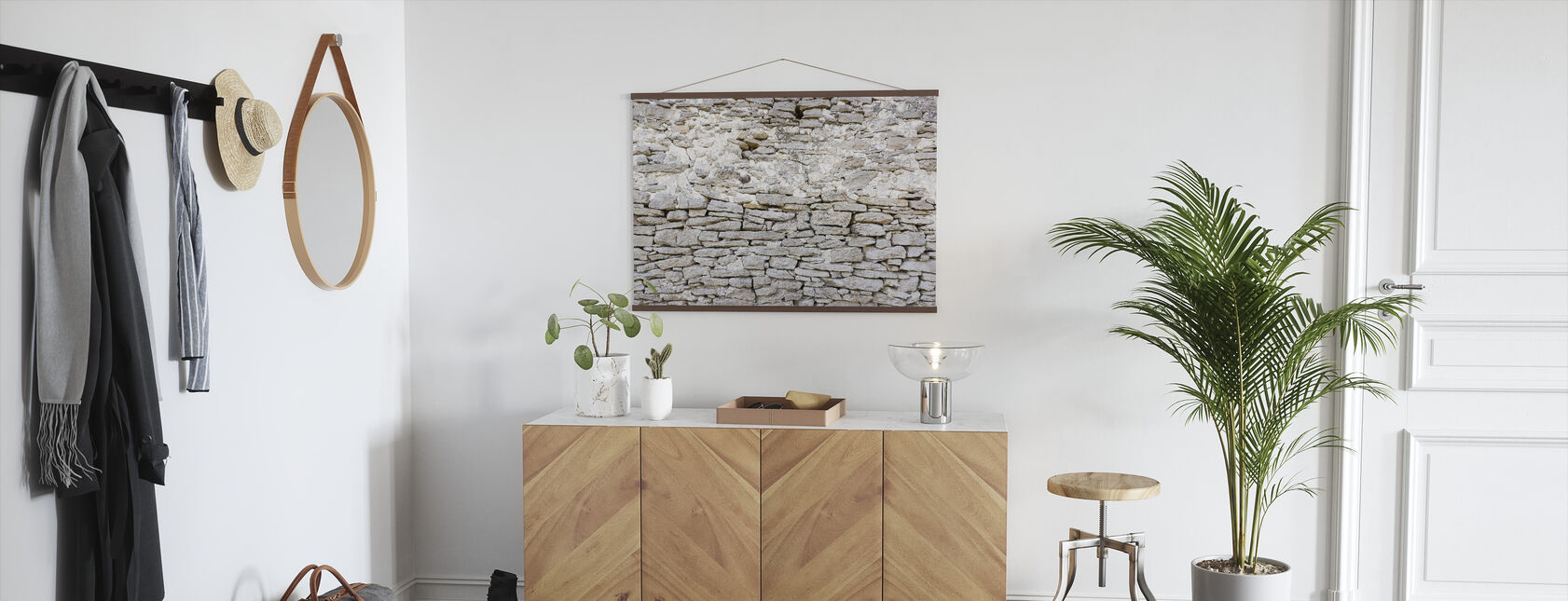 Old Stone Wall - Poster - Hallway