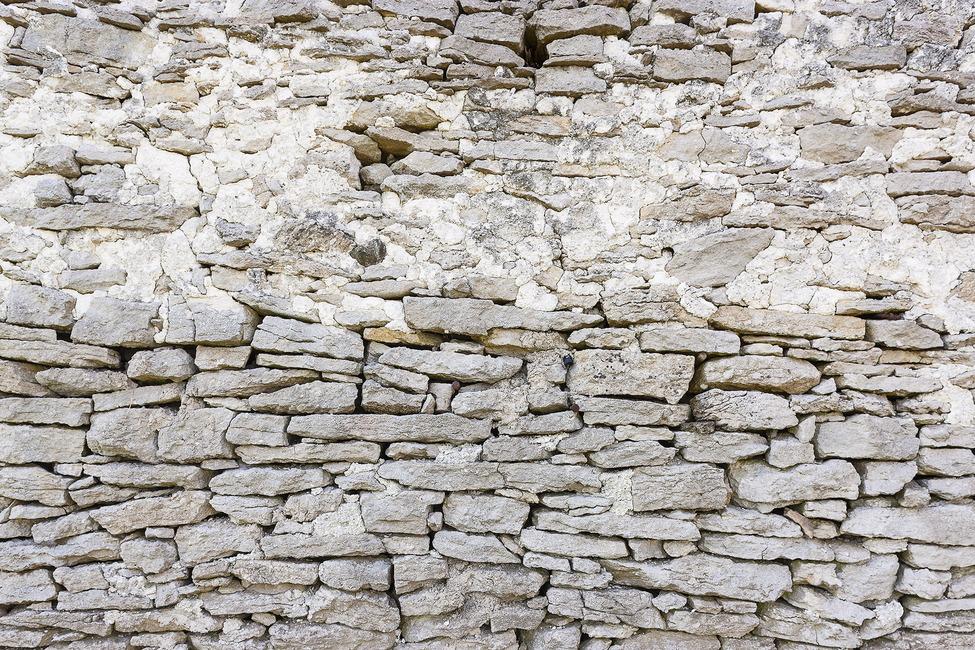 Old Stone Wall Fototapeter & Tapeter 100 x 100 cm