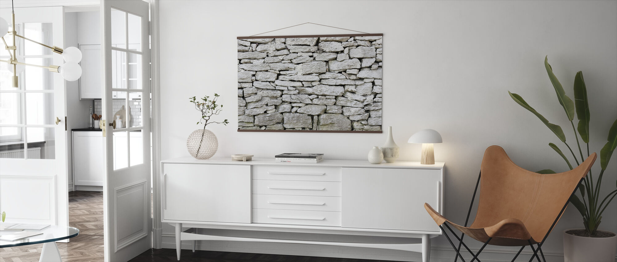 Gotland Stone Wall - Poster - Living Room