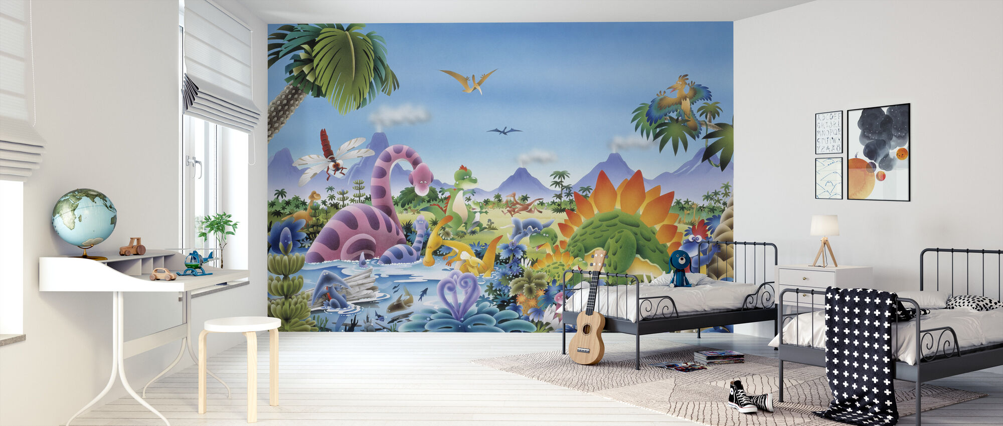 Dinosaur Land - Wallpaper - Kids Room