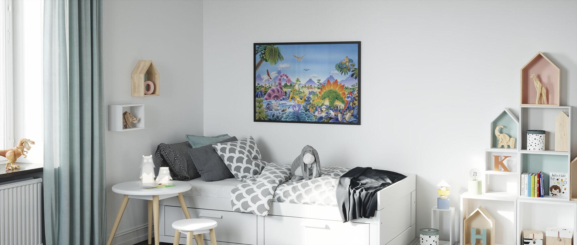 Dinosaur Land - Framed print - Kids Room