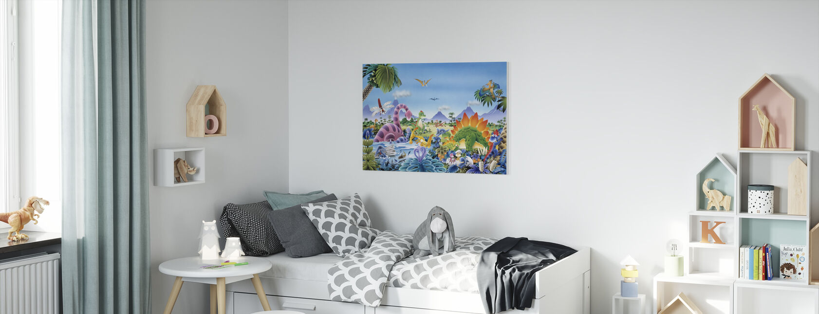 Dinosaur Land - Canvas print - Kids Room