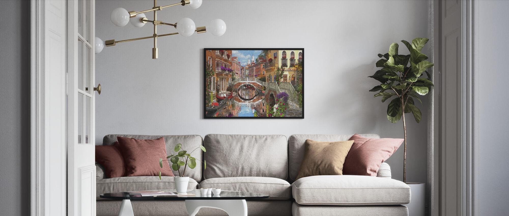 Venetian Waterway - Framed print - Living Room
