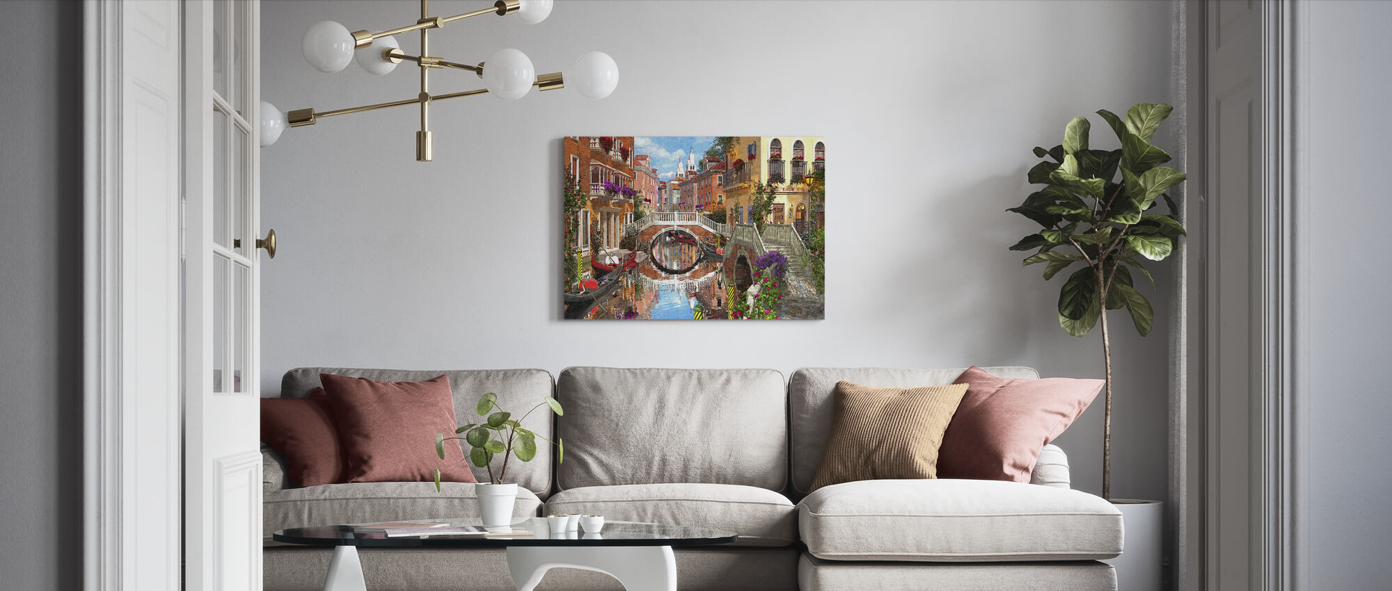 Venetian Waterway - Canvas print - Living Room